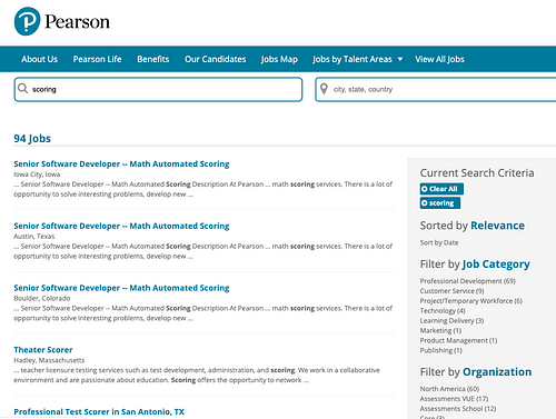 pearson education jobs from home