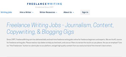 successful freelance writer websites