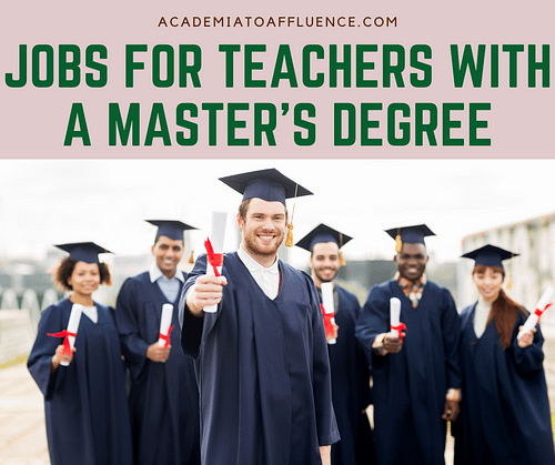 jobs for teachers with a master's degree