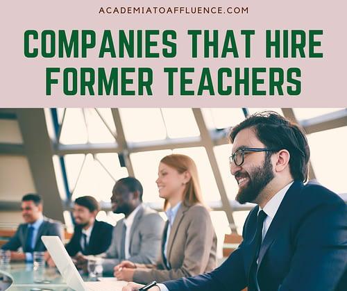 companies that hire former teachers