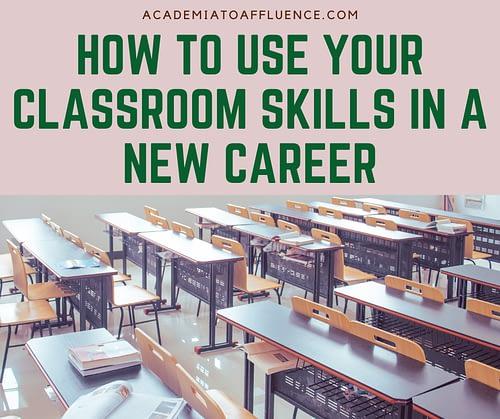 new career for teachers