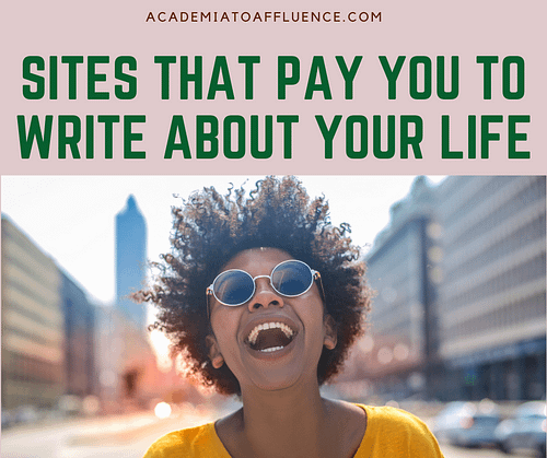 get paid to write about your life