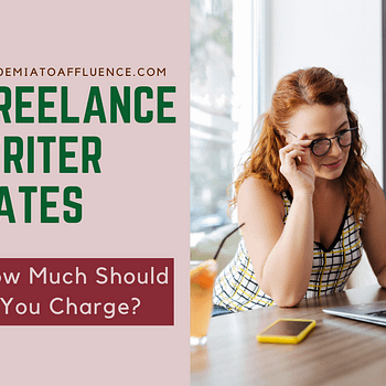 freelance writer rates