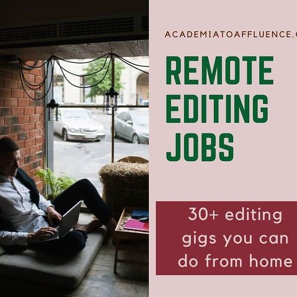 editing jobs