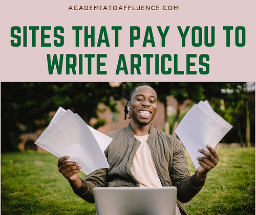 get paid to write articles