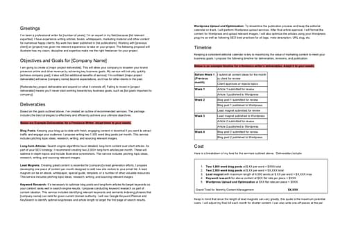 freelance proposal template