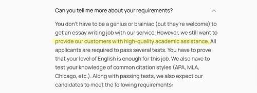 freelance academic writers wanted
